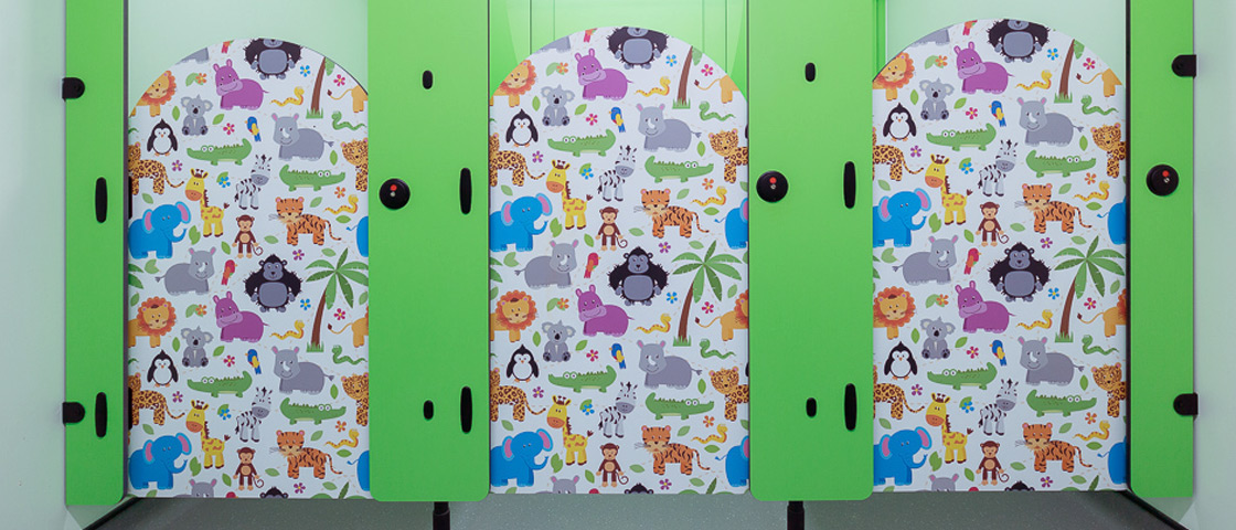 Digital print animal toilet doors